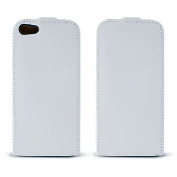 iPhone 5 / 5S / SE Ksix Flip PU Leather Case White