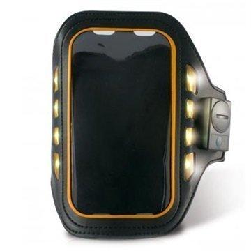 iPhone 5 / 5S / SE Ksix Led Sport Käsivarsikotelo Musta