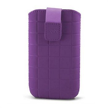 iPhone 5 / 5S / SE Ksix Roma Vertical Case Purple