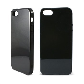 iPhone 5 / 5S / SE Ksix TPU Suojus Musta