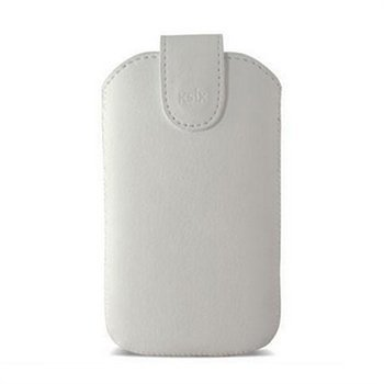 iPhone 5 / 5S / SE Ksix Viena Vertical Synthetic Leather Case White