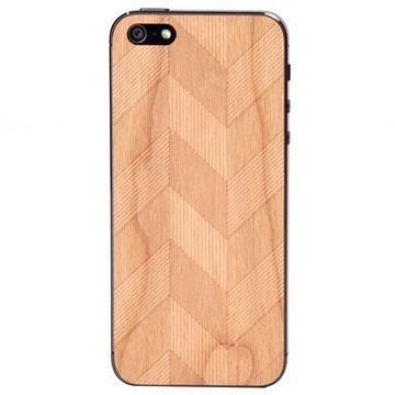 iPhone 5 / 5S / SE Lazerwood Suojakalvo Chevron Cherry