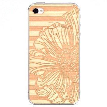 iPhone 5 / 5S / SE Lazerwood Suojakalvo Peony