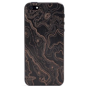 iPhone 5 / 5S / SE Lazerwood Suojakalvo Topo Black