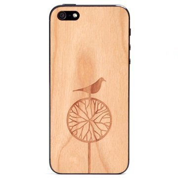 iPhone 5 / 5S / SE Lazerwood Suojakalvo Treebird Cherry