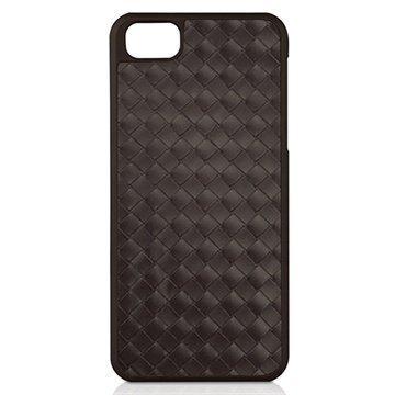 iPhone 5 / 5S / SE Macally Weave Snap-on Napsautuskotelo Ruskea