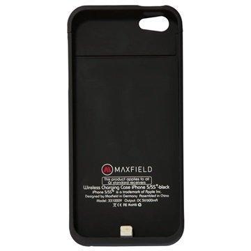iPhone 5 / 5S / SE Maxfield Langaton Latauskotelo Musta