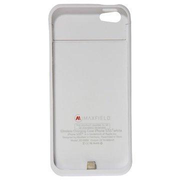 iPhone 5 / 5S / SE Maxfield Langaton Latauskotelo Valkoinen