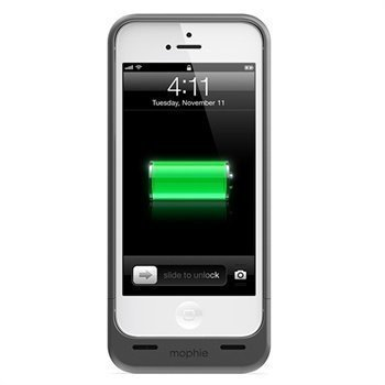iPhone 5 / 5S / SE Mophie Juice Pack Helium Akkukotelo Metallinen Musta