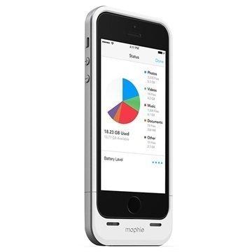 iPhone 5 / 5S / SE Mophie Space Pack Akkukotelo 16GB Valkoinen