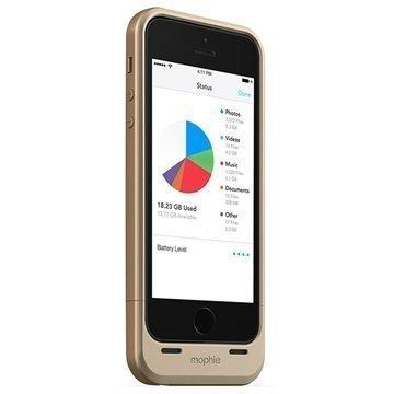 iPhone 5 / 5S / SE Mophie Space Pack Akkukotelo 32GB Kultainen