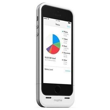 iPhone 5 / 5S / SE Mophie Space Pack Akkukotelo 32GB Valkoinen