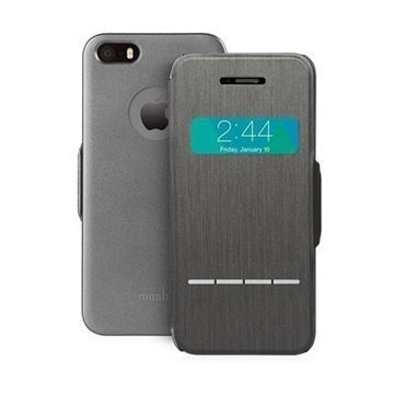 iPhone 5 / 5S / SE Moshi Sensecover Kotelo Musta