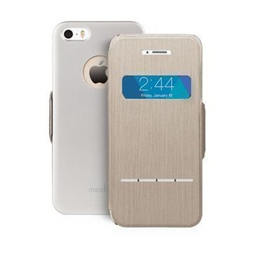 iPhone 5 / 5S / SE Moshi Sensecover Kotelo Titaani