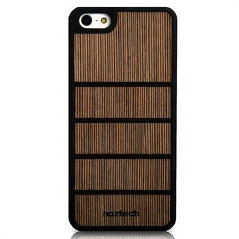 iPhone 5 / 5S / SE Naztech Zen Kumipintainen Suojakuori Tummanruskea Bambu