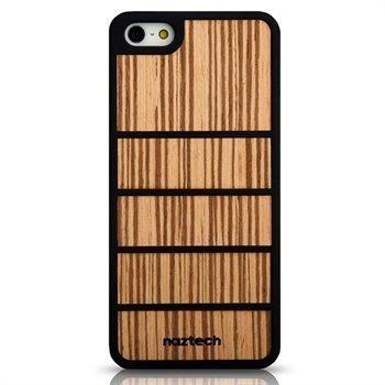 iPhone 5 / 5S / SE Naztech Zen Kumipintainen Suojakuori Vaaleanruskea Bambu
