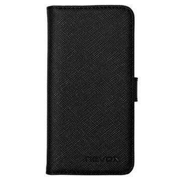 iPhone 5 / 5S / SE Nevox Ordo Folio Kotelo Musta / Harmaa