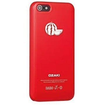 iPhone 5 / 5S / SE Ozaki O!Coat Fruit Click-On Suojakuori Vesimeloni Punainen