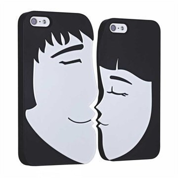 iPhone 5 / 5S / SE Ozaki O!Coat Lover Napsautuskuori Forever Musta / Valkoinen