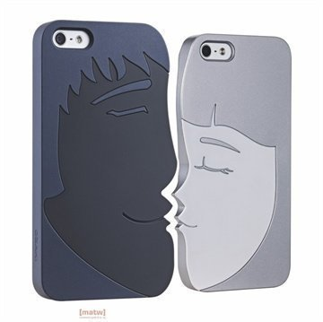 iPhone 5 / 5S / SE Ozaki O!Coat Lover Snap-on Cover Forever Black / Grey