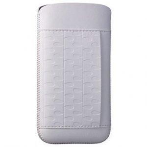 iPhone 5 / 5S / SE Ozaki O!Coat Nature Nahkakotelo Sade Valkoinen