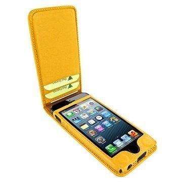 iPhone 5 / 5S / SE Piel Frama Classic Magneettinen Nahkakotelo Keltainen