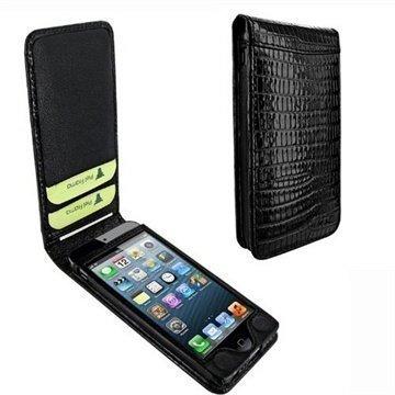 iPhone 5 / 5S / SE Piel Frama Classic Magneettinen Nahkakotelo Lisko Musta