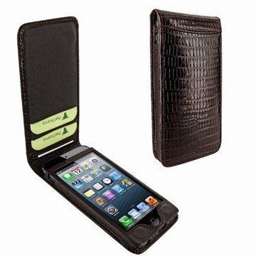 iPhone 5 / 5S / SE Piel Frama Classic Magneettinen Nahkakotelo Lisko Ruskea