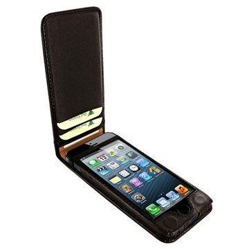 iPhone 5 / 5S / SE Piel Frama Classic Magneettinen Nahkakotelo Ruskea
