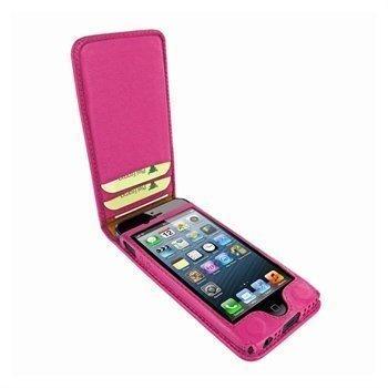 iPhone 5 / 5S / SE Piel Frama Classic Magnetic Nahkakotelo Fuksia