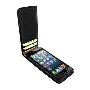 iPhone 5 / 5S / SE Piel Frama Classic Magnetic Nahkakotelo Musta