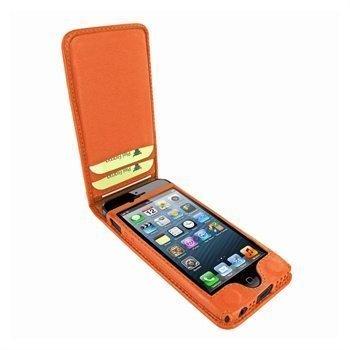 iPhone 5 / 5S / SE Piel Frama Classic Magnetic Nahkakotelo Oranssi
