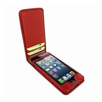 iPhone 5 / 5S / SE Piel Frama Classic Magnetic Nahkakotelo Punainen