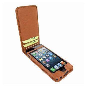 iPhone 5 / 5S / SE Piel Frama Classic Magnetic Nahkakotelo Ruskea