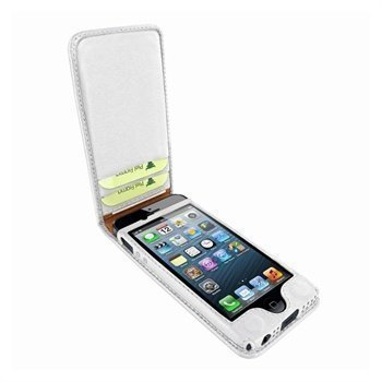 iPhone 5 / 5S / SE Piel Frama Classic Magnetic Nahkakotelo Valkoinen