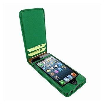 iPhone 5 / 5S / SE Piel Frama Classic Magnetic Nahkakotelo Vihreä