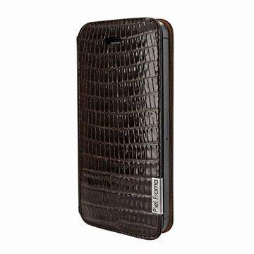 iPhone 5 / 5S / SE Piel Frama FramaSlim Leather Case Lizard Brown