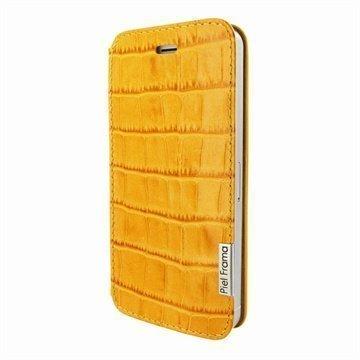 iPhone 5 / 5S / SE Piel Frama FramaSlim Nahkakotelo Krokotiili Keltainen