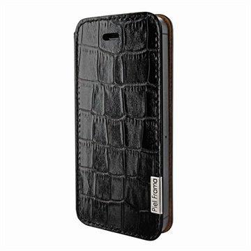 iPhone 5 / 5S / SE Piel Frama FramaSlim Nahkakotelo Krokotiili Musta