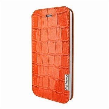 iPhone 5 / 5S / SE Piel Frama FramaSlim Nahkakotelo Krokotiili Oranssi