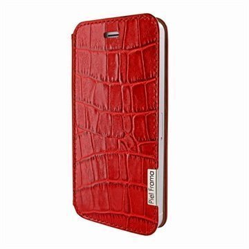 iPhone 5 / 5S / SE Piel Frama FramaSlim Nahkakotelo Krokotiili Punainen