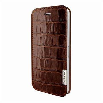 iPhone 5 / 5S / SE Piel Frama FramaSlim Nahkakotelo Krokotiili Ruskea