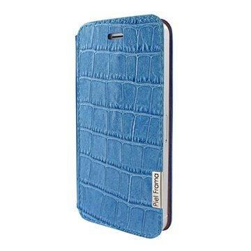 iPhone 5 / 5S / SE Piel Frama FramaSlim Nahkakotelo Krokotiili Sininen