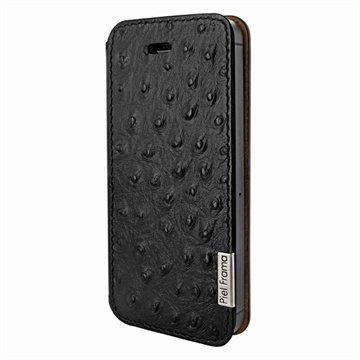 iPhone 5 / 5S / SE Piel Frama FramaSlim Nahkakotelo Strutsi Musta