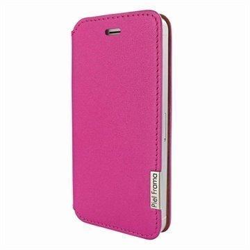 iPhone 5 / 5S / SE Piel Frama Framaslim Nahkakotelo Fuksia