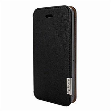 iPhone 5 / 5S / SE Piel Frama Framaslim Nahkakotelo Musta