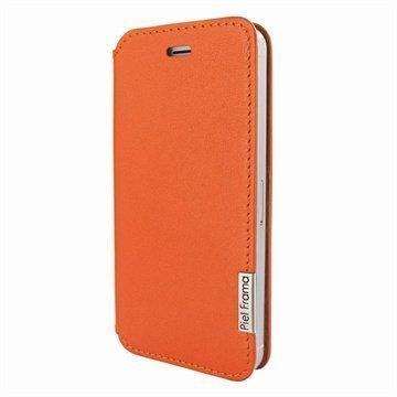 iPhone 5 / 5S / SE Piel Frama Framaslim Nahkakotelo Oranssi
