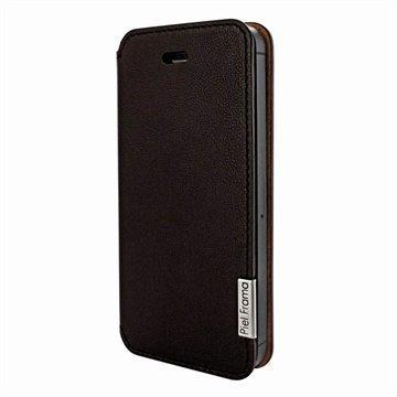 iPhone 5 / 5S / SE Piel Frama Framaslim Nahkakotelo Ruskea
