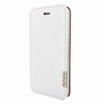 iPhone 5 / 5S / SE Piel Frama Framaslim Nahkakotelo Valkoinen