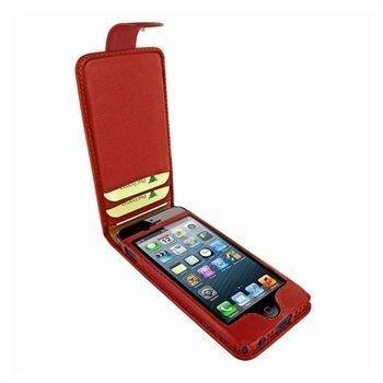 iPhone 5 / 5S / SE Piel Frama Kannellinen Nahkakotelo Punainen